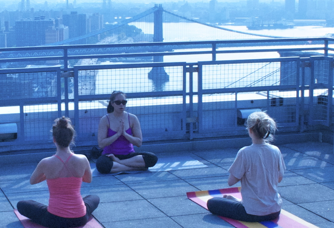 Rooftop Yoga. Meditation